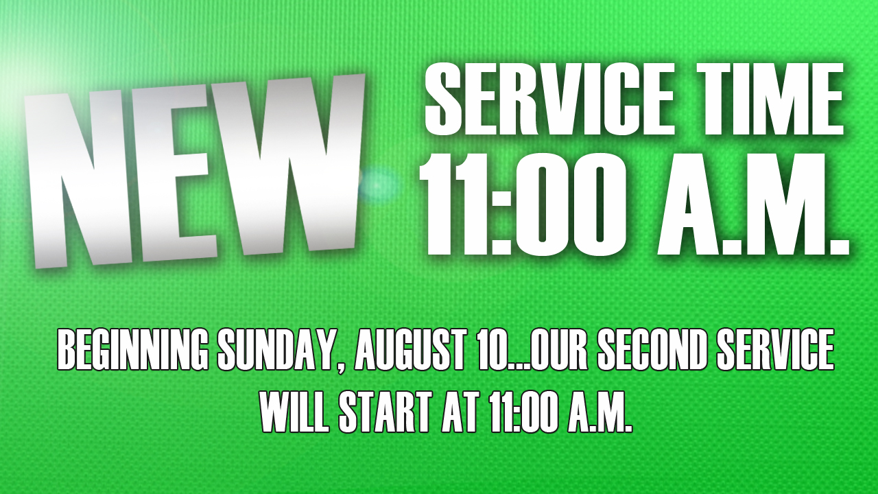 New Home Ministries Service Time